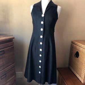 Coldwater Creek Black Linen Blend Dress